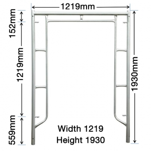 GH101 1930mm x 1219mm Vertical Frame