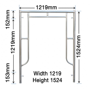 GH103 1524mm x 1219mm Vertical Frame