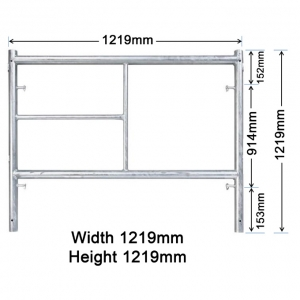 GH104 1219mm x 1219mm Ladder Frame