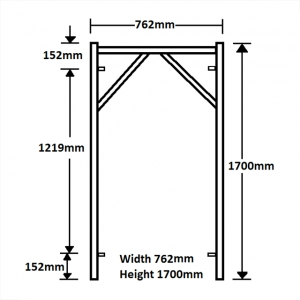 GH106 1700mm x 762mm Vertical Frame