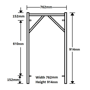 GH107 914mm x 762mm Vertical Frame