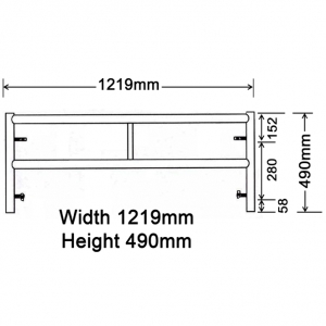 GH108 490mm x 1219mm Adjusting Frame